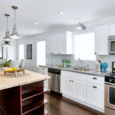Transitional Kitchen by The Property Sisters