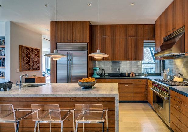 Mid century modern kitchens 12 key design elements - Mid century kitchen cabinets ...