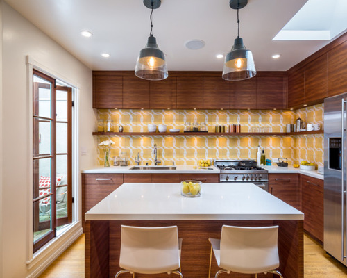 1 732 Midcentury L Shaped Kitchen Design Ideas Amp Remodel