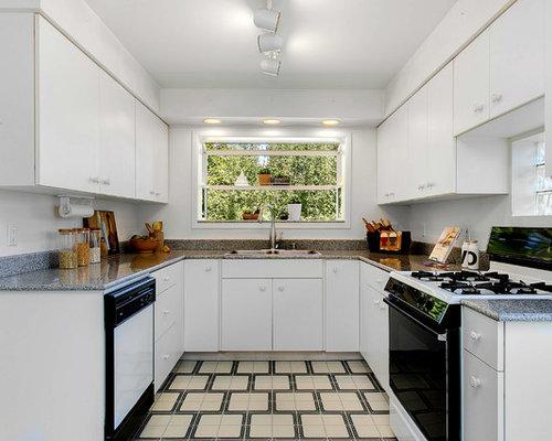 Küchen mit Arbeitsplatte aus Terrazzo und Linoleum Ideen, Design ...