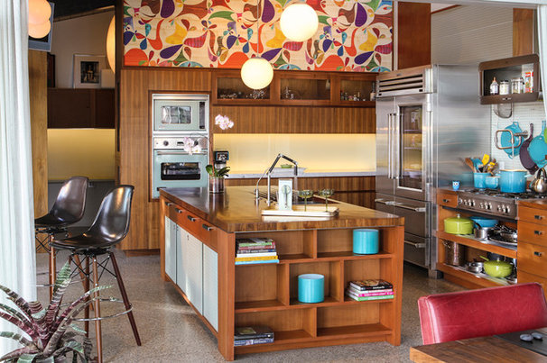 Midcentury Kitchen by Native Son Design Studio