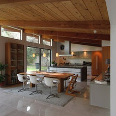 Midcentury Kitchen by Clean Slate Design Inc.