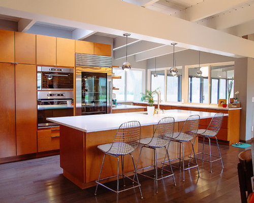 mid century modern kitchen design midcentury modern kitchen houzz 9164