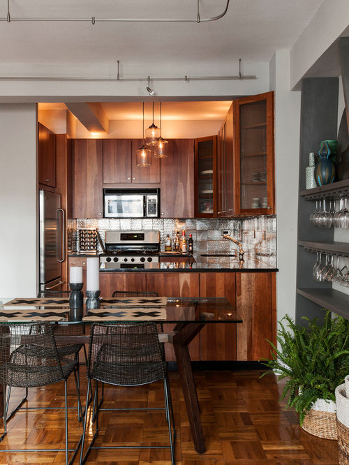 Small kitchen plans houzz for Houzz small kitchens