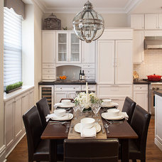 Traditional Kitchen by Hirshson Design Group