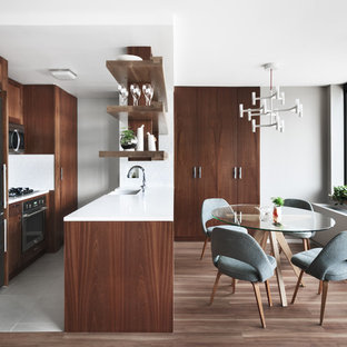 75 Beautiful Scandinavian Kitchen With Dark Wood Cabinets Pictures