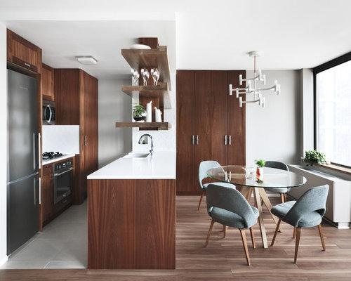 Scandinavian kitchen design ideas renovations photos - Dark wood cabinets kitchen design ...