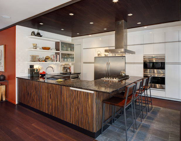 Contemporary Kitchen by Bruns Architecture