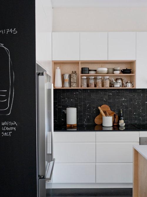 Honed Marble Backsplash Home Design Ideas Pictures