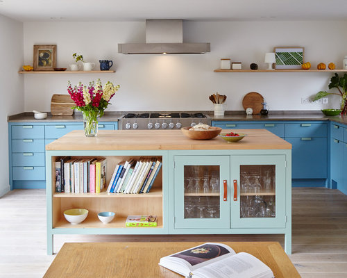 Best Kitchen With Blue Cabinets Design Ideas Remodel Pictures Houzz