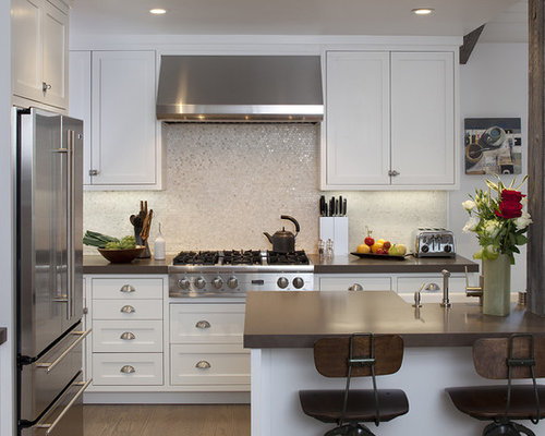 Example Of A Classic Kitchen Design In San Francisco With Stainless Steel  Appliances, A Farmhouse
