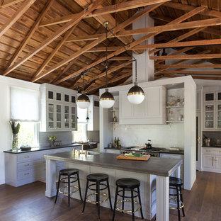 Ispirazione per una cucina ad ambiente unico classica con isola