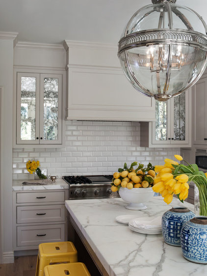 transitional kitchen by Heydt Designs