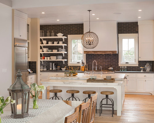 Dark Backsplash Houzz