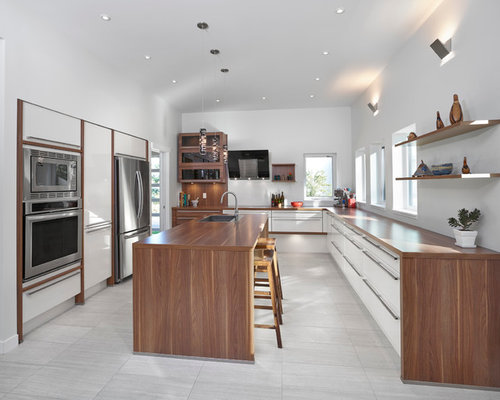 Edmonton Kitchen With Ceramic Flooring Design Ideas Pictures Inspiration Houzz