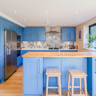Milroy Painted Broadoak Kitchen in Cornflower Blue