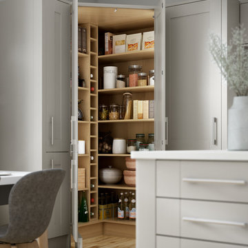 Milton Grey Kitchen with Clever Corner Pantry
