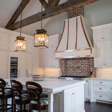 Transitional Kitchen by Keystone Millworks Inc