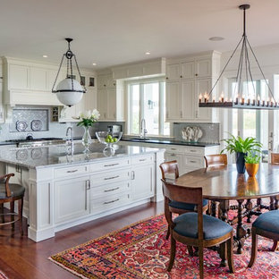 This is an example of a traditional kitchen in Boston.