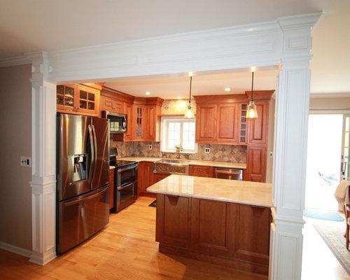 Mine hill bi level kitchen remodel for Bi level kitchen remodel ideas