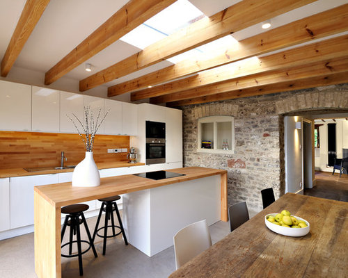 Inspiration For A Medium Sized Contemporary Single Wall Kitchen/diner In  Gloucestershire With A
