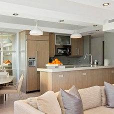 Transitional Kitchen by Cynthia Whitaker Studio