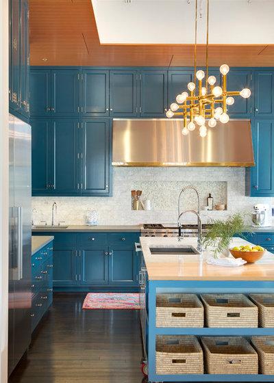 Transitional Kitchen by Yerigan Construction Company