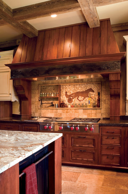 Rustic Kitchen by Sawhill Kitchens