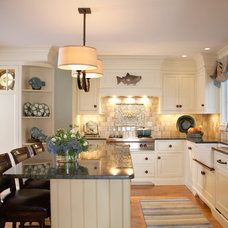 Beach Style Kitchen by Gale Michaud Interiors