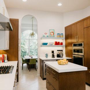 Midcentury modern kitchen designs - Kitchen - midcentury modern kitchen idea in Miami