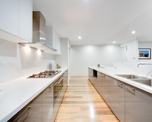 kitchen design ideas images. Contemporary l shaped open plan kitchen in Perth with a double bowl sink  Kitchen Design Ideas Renovations Photos
