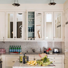 Traditional Kitchen Mirrored Cabinet Doors - Ideas to Update the Kitchen - House Beautiful