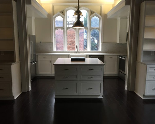 Black kitchen design ideas renovations amp photos with laminate floors