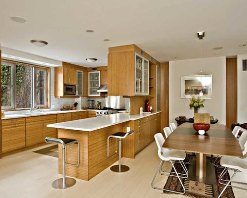 Kitchen Design Ideas Renovations Photos With Light Wood Cabinets And Vinyl Floors
