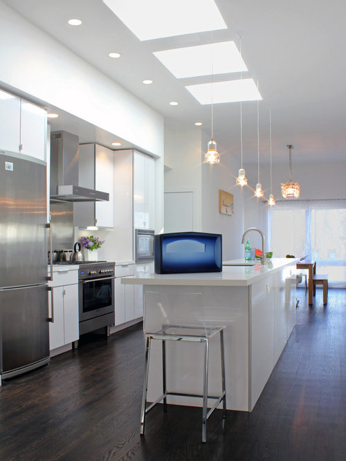 Inspiration For A Modern Galley Kitchen Remodel In San Francisco With  Stainless Steel Appliances