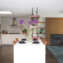 Stylish Midcentury Kitchen Balances Openness and Privacy