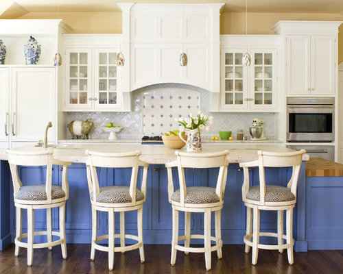 Blue And White Kitchen Ideas Pictures Remodel And Decor