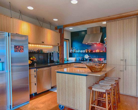 Kitchen Island On Casters kitchen island on casters | houzz