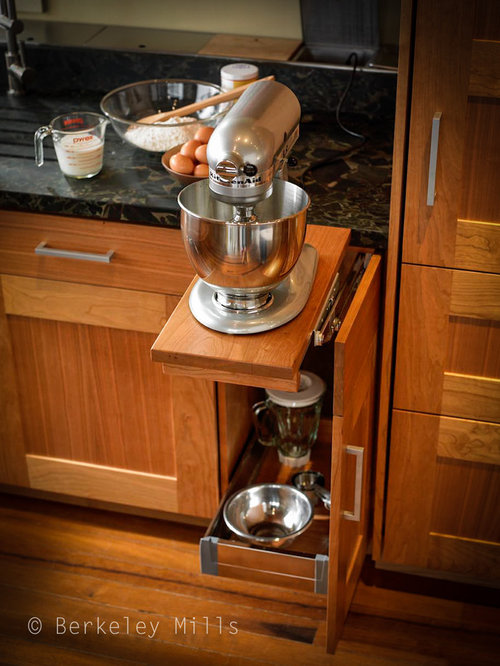 Pull out mixer stand houzz for Berkeley mills doors
