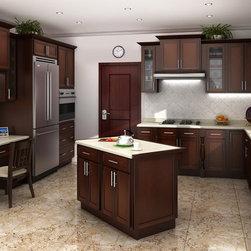 Mocha Shaker Kitchen Cabinets | Kitchen Cabinet Kings -