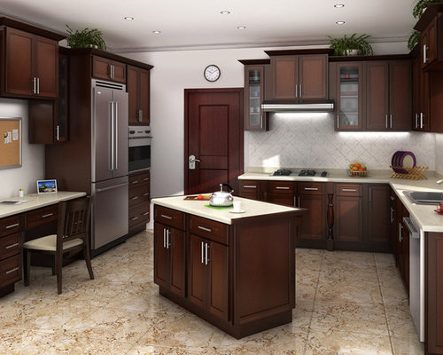Mocha Cabinets Home Design Ideas, Pictures, Remodel and Decor