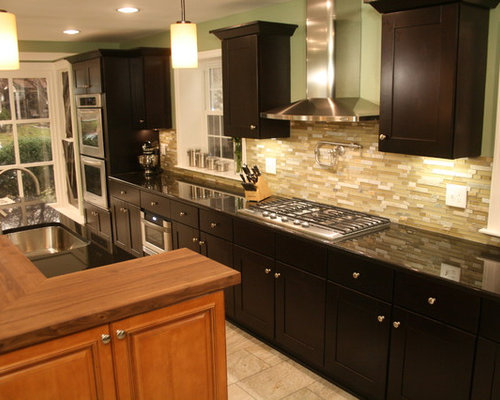 Mocha Kitchen Cabinets Houzz