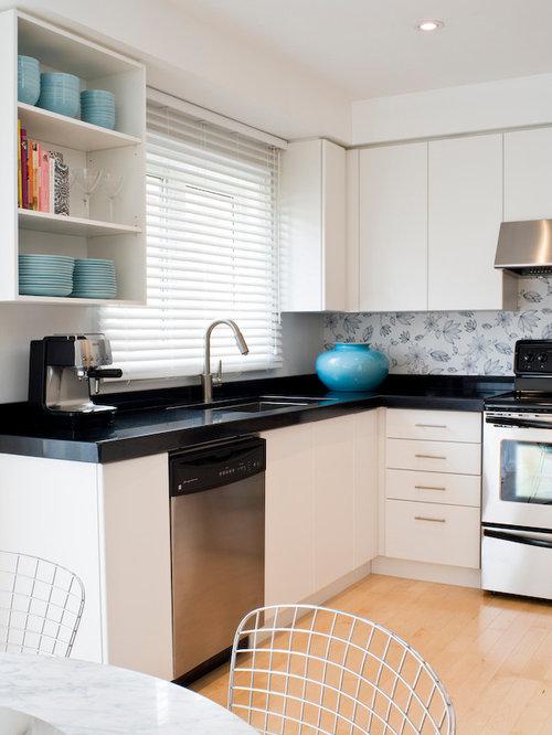 Cheap splashbacks home design ideas renovations photos for Cheap kitchen splashback ideas