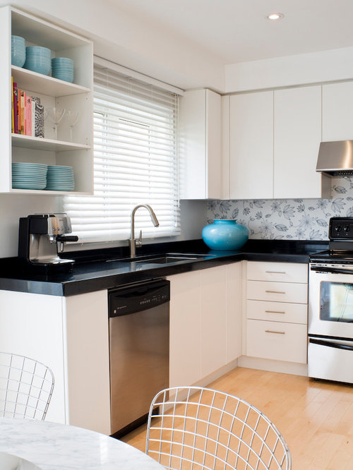 wallpaper backsplash houzz