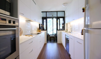 Modern All White Galley Kitchen Pymble