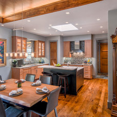 Transitional Kitchen by Living Stone Construction, Inc.