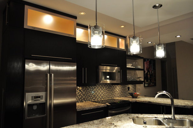 modern kitchen by isabel beattie k cabinets oakville ambient kitchen lighting