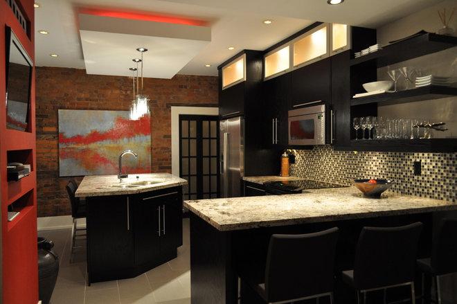 Contemporary Kitchen by Isabel Beattie @ K Cabinets Oakville