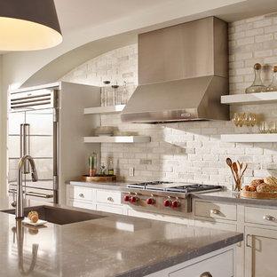 White Washed Brick Kitchen Ideas Photos Houzz
