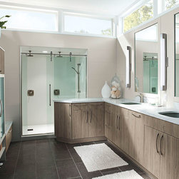 Modern Bathroom Cabinets in Thermofoil - Kitchen Craft Cabinetry -